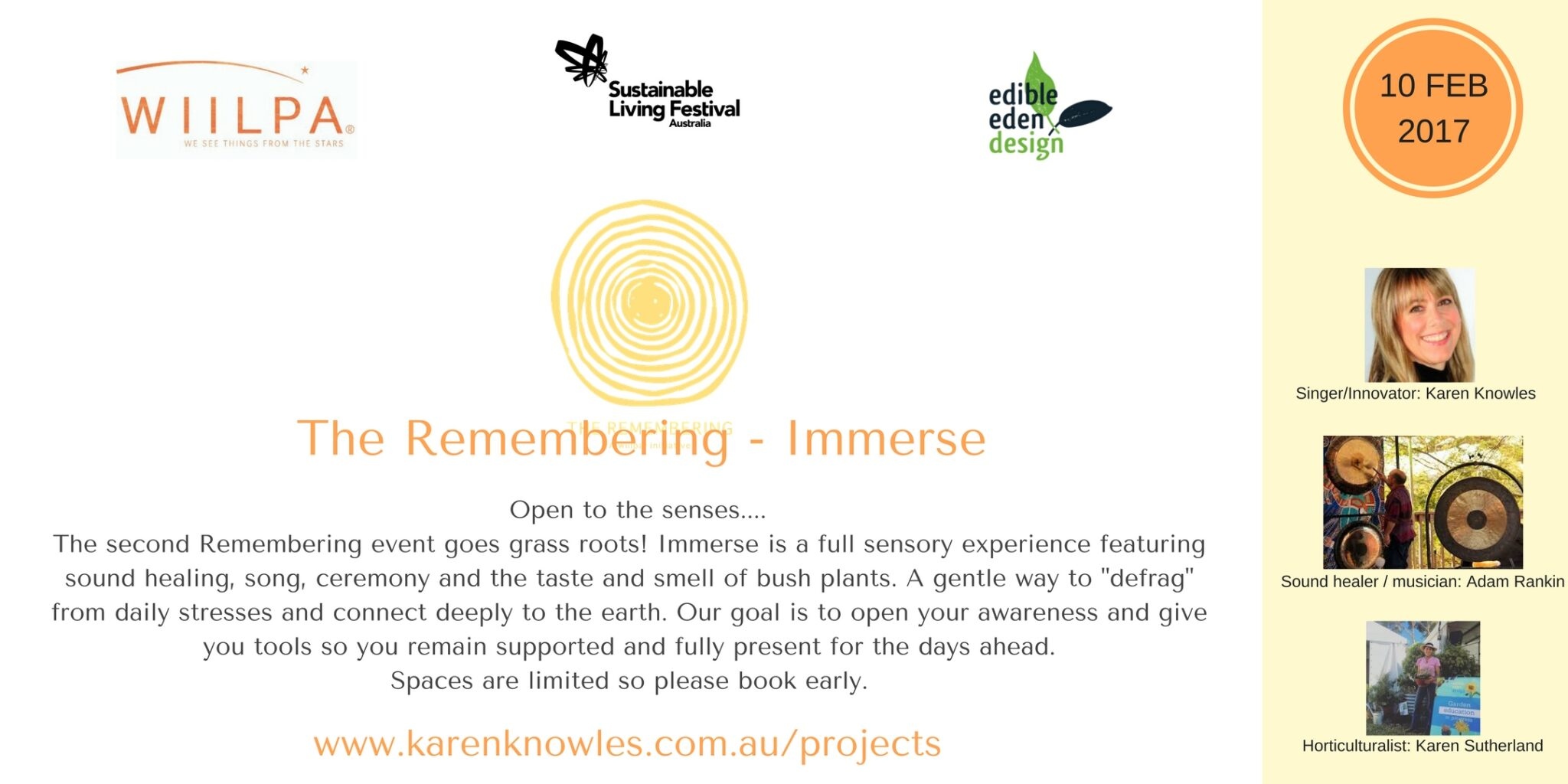 The Remembering - Immerse - part of the National Sustainable Living Festival 2017