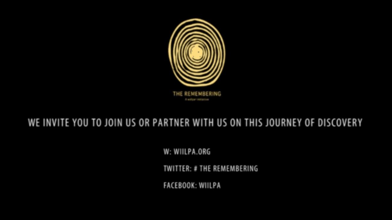 The Remembering - invitation