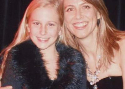 Karen with a young student